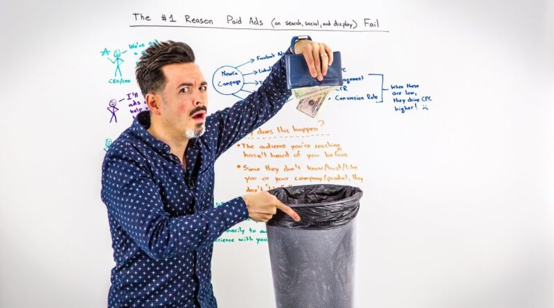 The #1 Reason Paid Ads on Search, Social, and Display Fail  – Whiteboard Friday